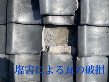 瓦の豆知識その2  塩害について